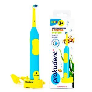真正德国口腔护理专业品牌,德国儿童口腔护理,prokudent必固登洁儿童电动牙刷,充电式儿童电动牙刷,儿童预防龋齿,乳牙期换牙期刷牙