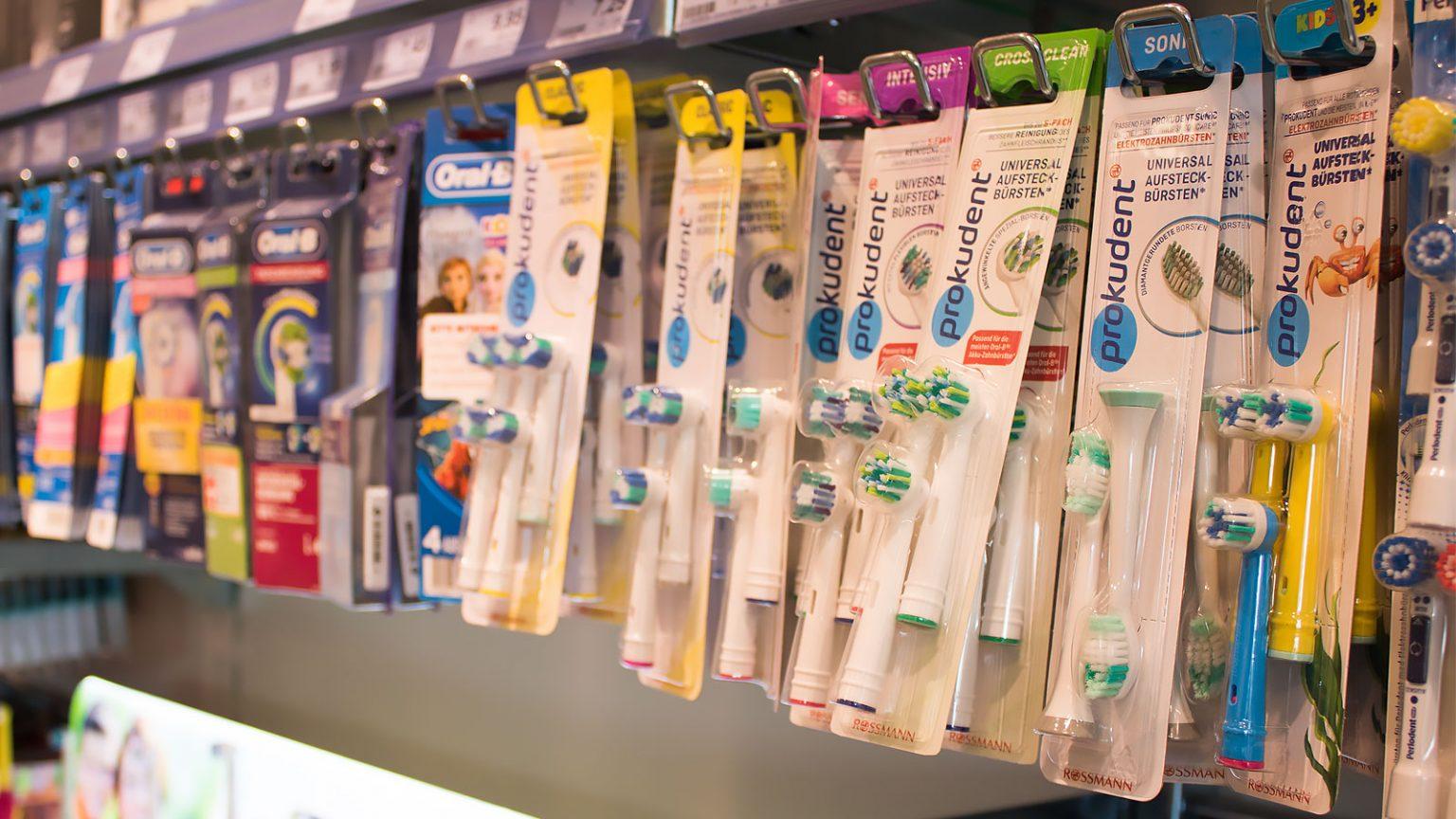 真正的德国口腔护理产品,在德国超市买得到的口腔护理产品,prokudent必固登洁在德国ROSSMANN实拍货架照片